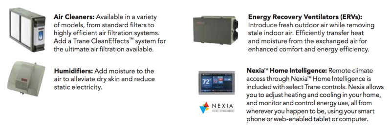Air cleaners, humidfiers, ERVs and Nexia Home Intelligence